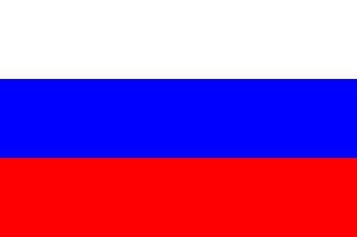 Paket mit 10 Länderflagge Russland Art.-Nr. 0700000007