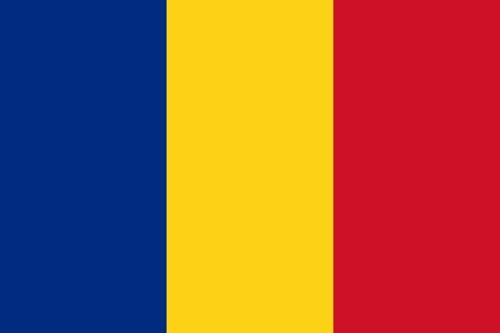 Paket mit 10 Laenderflagge Rumänien Art.-Nr. 0700000040