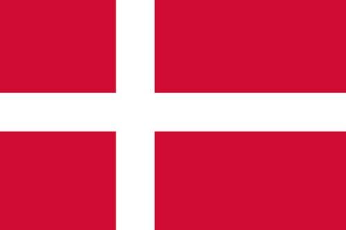 Paket mit 10 Länderflagge Dänemark Art.-Nr. 0700000045