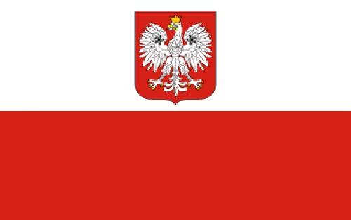 Paket mit 10 Länderflagge Polen Art. Nr. 0700000048a