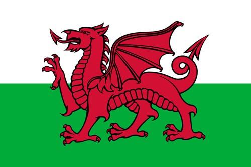 Paket mit 10 Laenderflagge Wales Art.-Nr. 0700000440