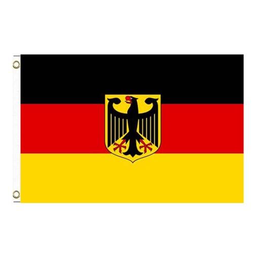 Paket mit 10 Laenderflagge Deutschland mit Adler Art.-Nr. 0700000149a