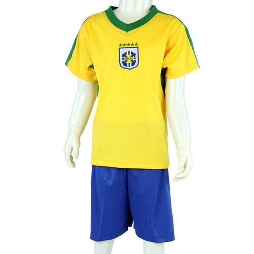 Paket mit 12 Fußball Kinder Set Trikot + Short Brasilien Art.-Nr. 0700132055