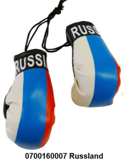Paket mit 6 Mini Boxhandschuhe Russland Art.-Nr. 0700160007