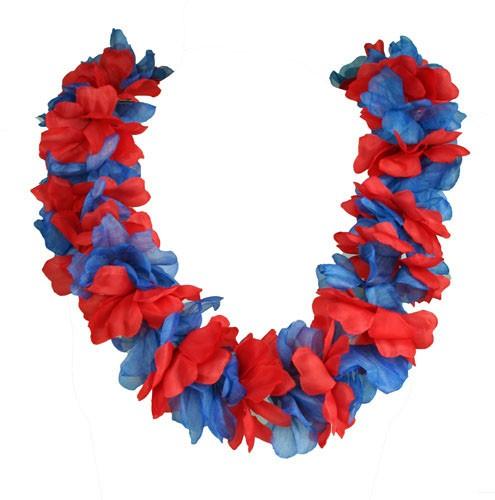 Paket mit 10 Blumenketten Rot Blau (groß) Art.-Nr. 0700424007