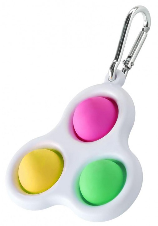 Mini Push Pop - Pop it - Schlusselanhänger -  Spielzeug - Toy - Antistress - 10 Stück