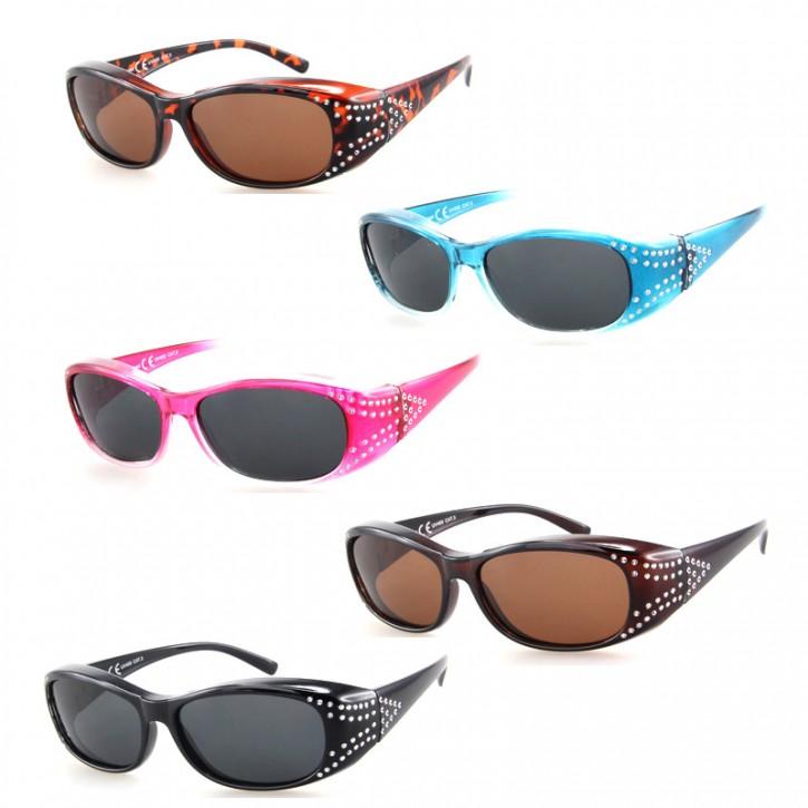 -Paket mit 12 Polarisierte Überziehbrillen Sonnenbrillen Art.-Nr. BM5010