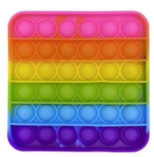 Push Pop - Pop it  - Viereck Rainbow - 3 Stück