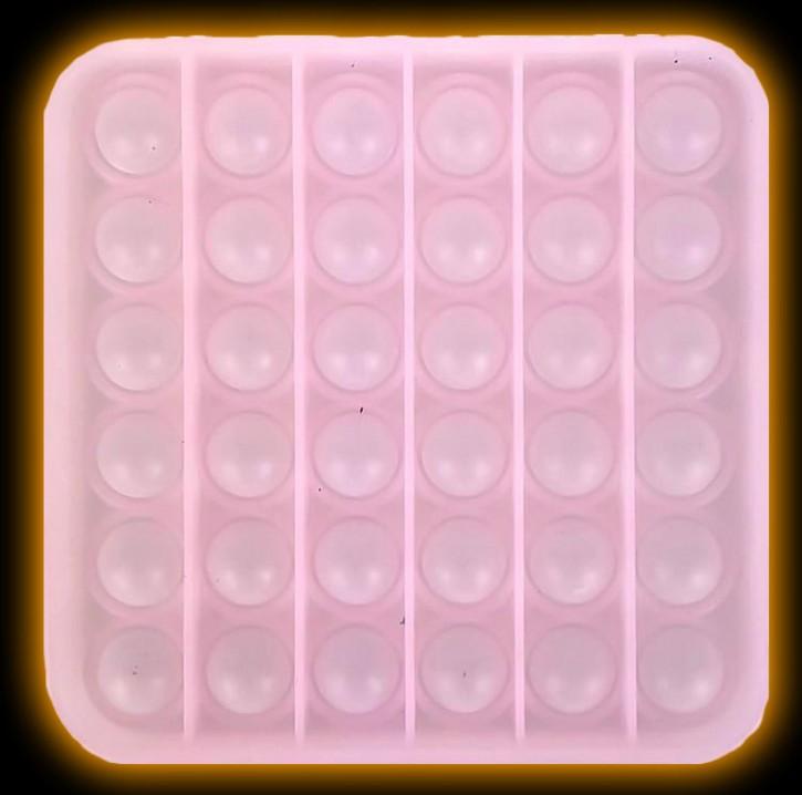 Push Pop - Pop it - Leuchtet im dunkeln - Viereck Grün - 3 Stück