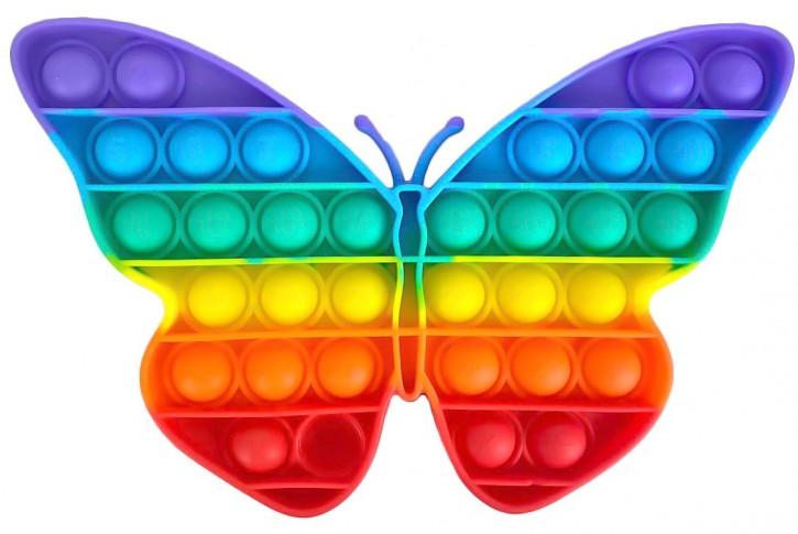 Push Pop - Pop it - Schmetterling Mehrfarbig - 3 Stück