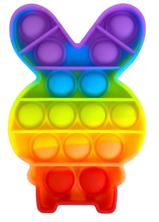 Push Pop - Pop it -  Hase Mehrfarbig - 3 Stück