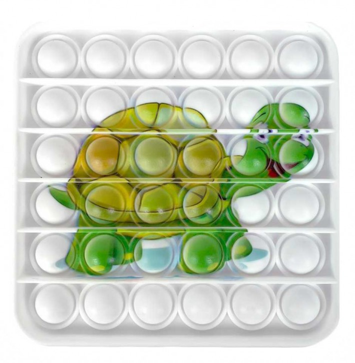 Push Pop - Pop it - Viereck Schildkröte - Spiel - Toy 3 Stück