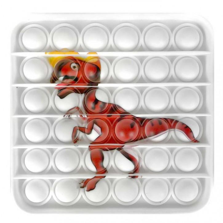Push Pop - Pop it - Viereck Dinosaurier - Spiel - Toy 3 Stück