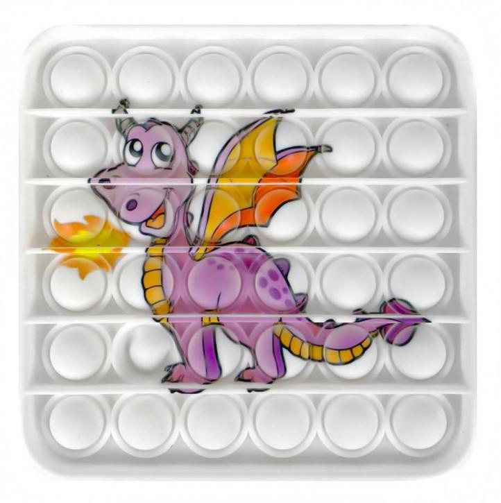 Push Pop - Pop it - Viereck Drache - Spiel - Toy 3 Stück