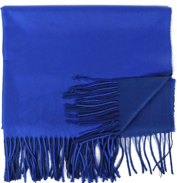 Schal Doppelseitig Cashmere / Viscose - FA-78089-12-NAVY-BLUE-BB