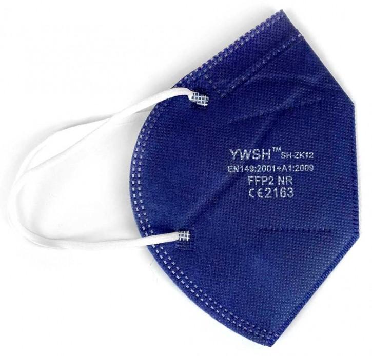 FFP2-Maske 10 Stück/Box CE-2163 zertifiziert Blau
