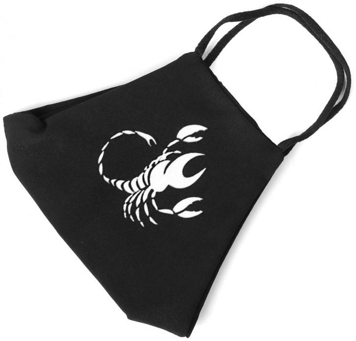 """Gesichtsmaske mit Sternzeichen """"Skorpion"""" Artnr. SM-939-001"""
