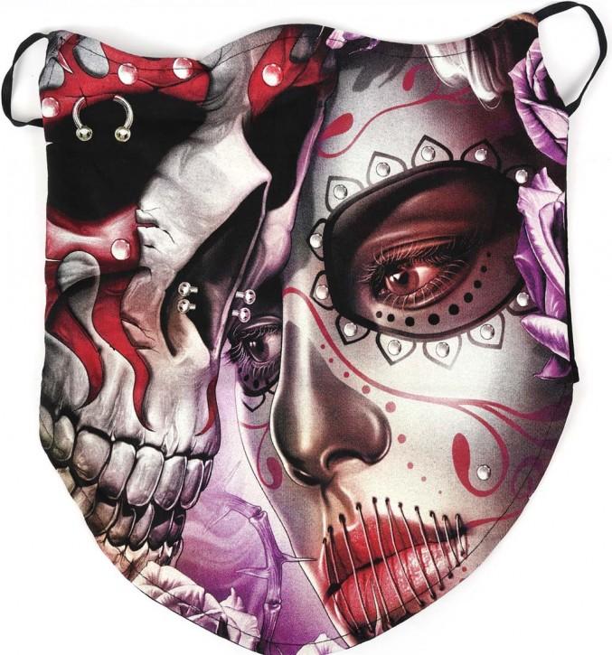Gesichtsmaske mit Ohrschlaufe, Bandana - Glow In The Dark