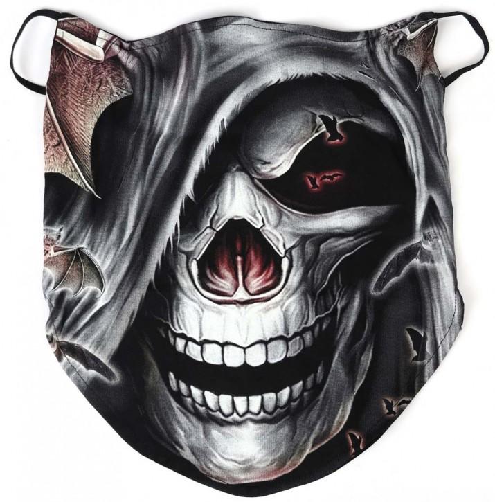 Gesichtsmaske mit Ohrschlaufe, Bandana - Glow In The Dark - SM-BUFF-GW-0017