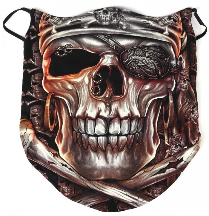 Gesichtsmaske mit Ohrschlaufe, Bandana - Glow In The Dark - SM-BUFF-GW-0024