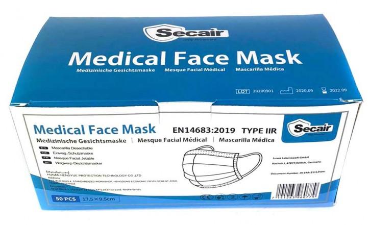 50 Stück 3-lagige Medizinische OP Einwegmaske