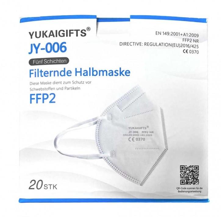 FFP2-Maske 20 Stück/Box zertifiziert