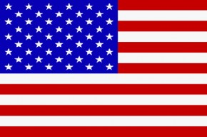 Paket mit 10 Länderflagge USA Art.-Nr. 0700000011