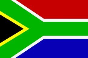 Paket mit 10 Länderflagge Südafrika Art.-Nr. 0700000027