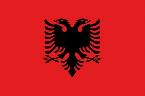 Paket mit 10 Laenderflaggen Albanien Art.-Nr. 0700000355