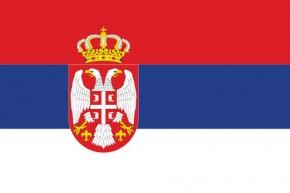 Paket mit 10 Länderflagge Serbien Art.-Nr. 0700000381