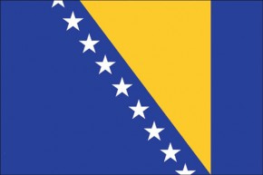 Paket mit 10 Flaggen Bosnien-Herzegowina Art.-Nr. 0700000387