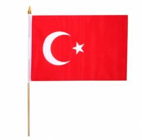 Paket mit 10 Stockflaggen Türkei Art.-Nr. 0700201049