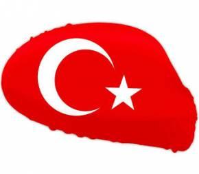 Paket mit 12 Autospiegelflaggen Türkei Art.-Nr. 0700650034
