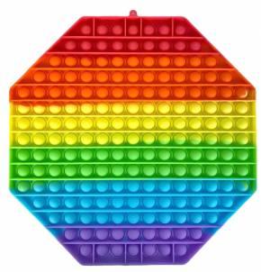 Push Pop XXL - Pop it - Achteck Mehrfarbig - 3 Stück