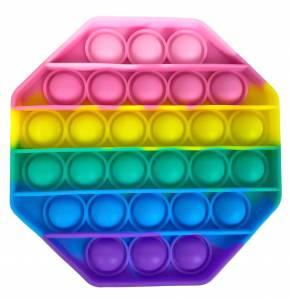 Push Pop - Pop it Spielzeug - Achteck Mehrfabig - 3 Stück
