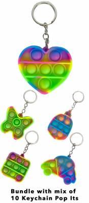 Pop It Schlüsselanhänger - Keychain - Spielzeug - Toy - Antistress - 10 Stück 6,5cm