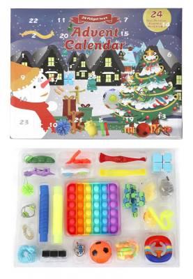 Push Pop Set Fidget Box Adventskalender - 24-Teilig