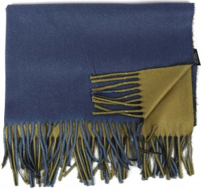 Schal Doppelseitig Cashmere / Viscose - FA-78089-84-GREEN-BLUE-BB