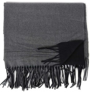 Schal Doppelseitig Cashmere / Viscose - FA-78089-87-BLACK-GREY-BB