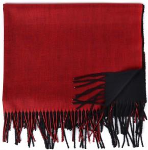 Schal Doppelseitig Cashmere / Viscose - FA-78089-88-BLACK-RED-BB