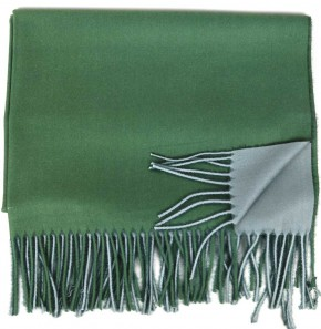 Schal Doppelseitig Cashmere / Viscose - FA-78089-96-GREY-GREEN-BB