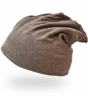 Strickmütze Beanie Mütze mit Nieten Muster - 3 Stück
