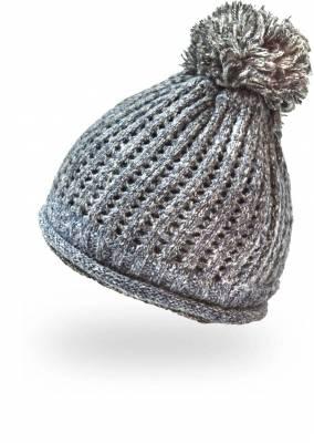 Bommelmütze Strickmütze Beanie Mütze mit Innenfutter - 3 Stück