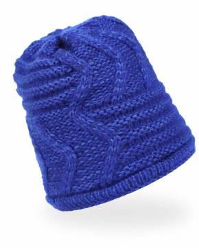 Strickmütze Beanie Mütze Blau - 3 Stück