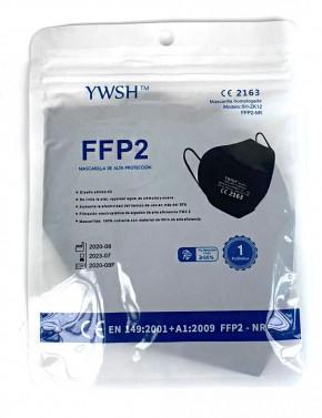 FFP2-Maske 10 Stück/Box CE-2163 zertifiziert Schwarz