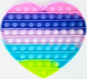 Push Pop XL - Pop it  - Herz Rainbow - 3 Stück