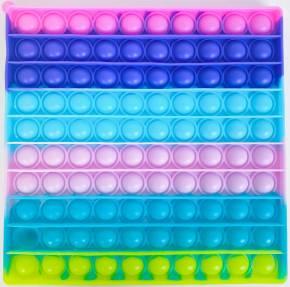 Push Pop XL - Pop it  - Viereck Rainbow - 3 Stück