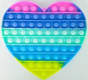 Push Pop XL - Pop it  - Herz Mehrfarbig - 3 Stück
