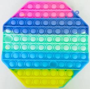 Push Pop XL - Pop it  - Achteck Mehrfarbig - 3 Stück